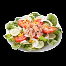 Salade com Atum e Ovo cozido
